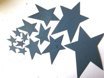 Blue Painted metal Stars Choice of size